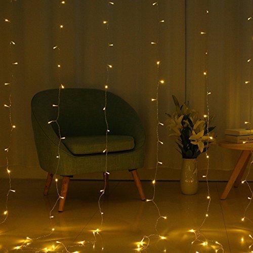 Vorhang-mini-leuchten (Urlaub Dekorieren Lampe LED-Zeichenfolge, Lampe, Vorhang Lampe, Ice Bar Lampe, Sky star Aussenleuchte string, vier Farbe 3 * 2 m)