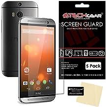 [Pack de 5] TECHGEAR® HTC One M8 & One M8s Film de Protection Ultra Clair pour Écran LCD avec Chiffon de Nettoyage & Carte d'Application
