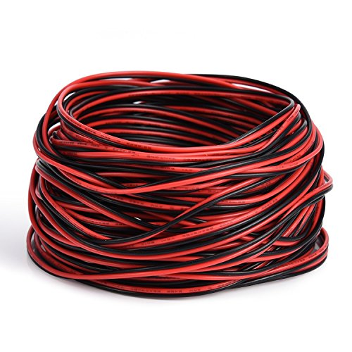 JACKYLED Extension Wire Cord 2 Pin 20M 22AWG Extension Cable for Led Strip Light Single Colour 3528 5050 65.5Ft