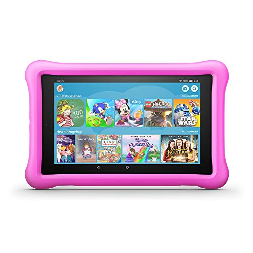 Fire HD 8 Kids Edition-Tablet, 8-Zoll-HD-Display, 32 GB, pinke kindgerechte Hülle (7-zoll-kinder Tablet Fall Samsung 3)