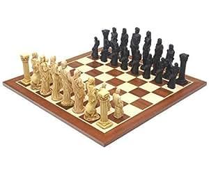 Dieux de Mythologie Acajou Jeu d'échecs Set