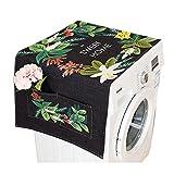 lavadora y nevera cubierta de tela de polvo con bolsa de almacenamiento de protección solar protectora de color, Negro #37