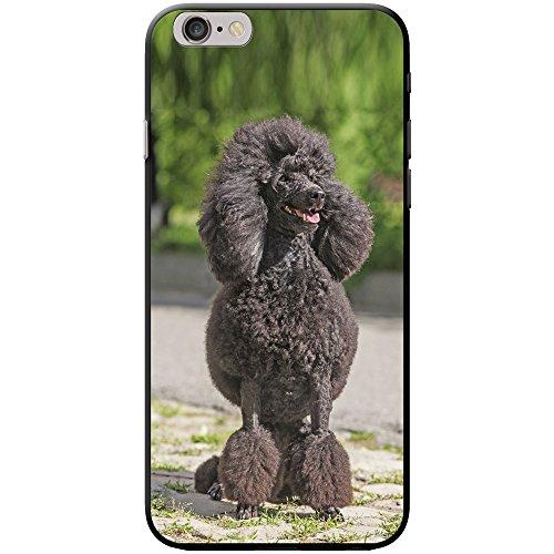 Barboncino caniche barbone Fluffy Custodia rigida per telefoni cellulari, PLASTICA, Black Fluffy Groomed Poodle, Apple iPhone 6 / 6s
