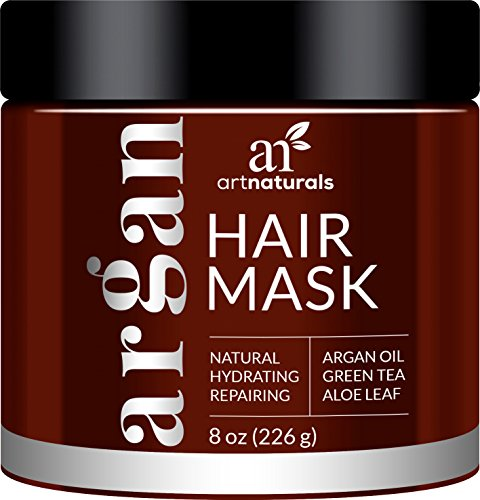 ArtNaturals Argan Oil Hair Mask - (8 Oz / 226g) - Deep Conditioner - 100% Organic Jojoba Oil, Aloe Vera & Keratin - Repair Dry, Damaged Or Color Treated Hair After Shampoo - Sulfate Free