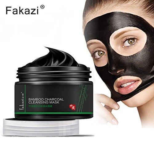 Ularma 120g Schwarz Mineralschlamm Tiefenreinigung Gesichtsmaske Akne Mitesser Entferner Peelings Maske Reinigungsmasken
