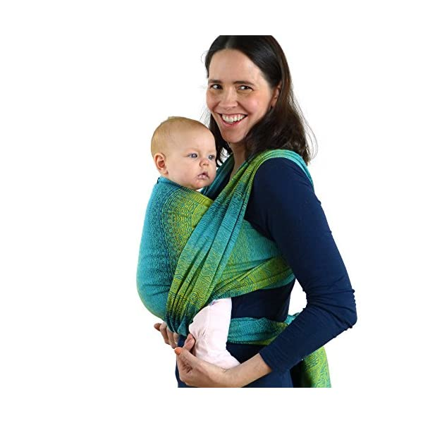 Didymos Woven Baby Wrap, Ada Malachit, Size 7, 520 cm, Green Didymos Various carrying positions, in front, sideways an on the back Special, diagonally stretchable cloth to give optimal support Holds your baby in the anatomically correct posture 1