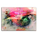 Paul Sinus Art Summerfeeling Kunstdruck Abstrakt419_120x80cm Leinwandbild XXL bunt fertig auf Keilrahmen großes Wandbild