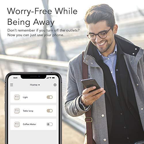 Nooie Enchufe Inteligente Wifi Mini Smart Plug,  funciona con Alexa y Google Home con control remoto por voz,  Temporizador,  no se requiere Hub,  iOs y Android,  red 2.4GHz (2 paquetes)