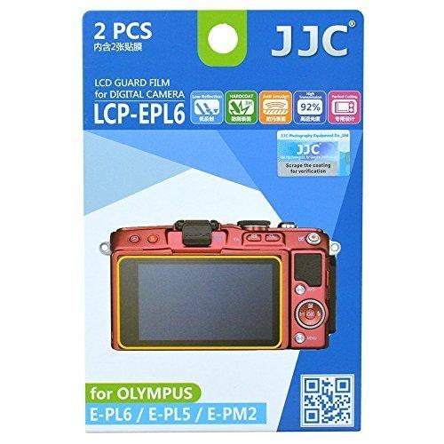 JJC Guard Film displayschutzfolie passgenau für Olympus Pen E-PL5, E-PL6, E-PM2 - Anti-Kratzer Antir