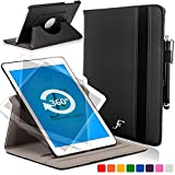 Forefront Cases Samsung Galaxy Tab S2 9.7 / Galaxy Tab S3 9.7 Rotatif Étui Housse Coque Smart Case Cover Stand - Extra Robust Protection Complète Smart Auto Reveil Sommeil (Noir)