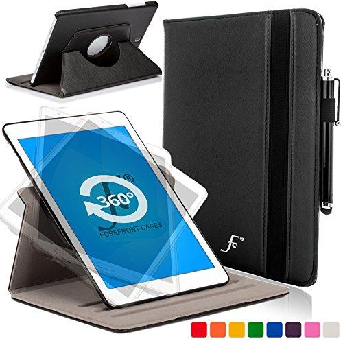 Forefront Cases® - Nouveaux Rotatif étui case en cuir pour les Samsung Galaxy Tab S2 9.7 Tablette tactile - Protection complète de l'appareil et fonction intelligente de réveil automatique