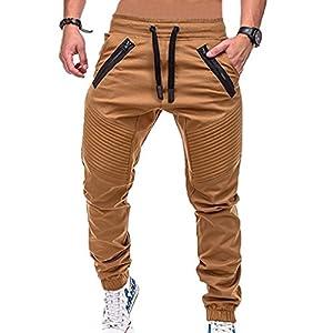 Männer Kordelzug Sport Hosen Fest Einfarbig Sport Hosen Bequeme Bewegung Hosen Fitness Hosen Reißverschlusstasche