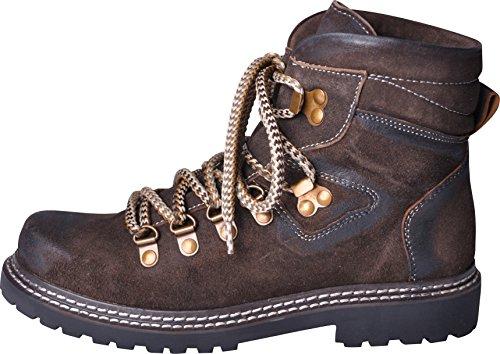 Almwerk Damen Trachten Bergschuh Wanderschuh verschiedene Farben, Schuhgröße:EU 38 - US 6.5 - Fußlänge 24.3 cm;Farbe:Braun (Günstige Trachten Schuhe)