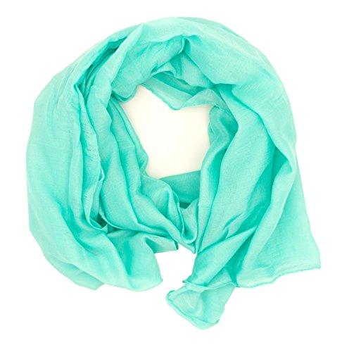 WILD CAT Damen Schal Halstuch Tuch aus Chiffon für Frühling Sommer Ganzjährig (Mint)