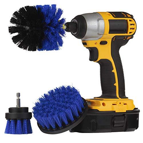 Kingko  3pcs bohrmaschine bürstenaufsatz - 2inch,3.5inch,4inch Power Scrubbing Auto Bürste für Auto, Teppich, Badezimmer, Holzboden, Waschküche exc Electric Cleaning Brush Power Scrubbing (3Pcs)