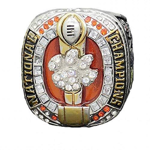GJZ Sportfans Kollektion Champion Rings Fans Herren Memorial Rings High-End Kollektionen Fans Alloy Rings Herren Accessoires Vintage Accessoires, Zweifarbig, 11