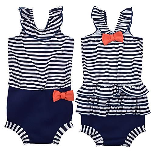 Kostüm Schwimmen Lycra - Splash About Baby Happy Nappy Kostuem, Nautical, 2-3 Jahre