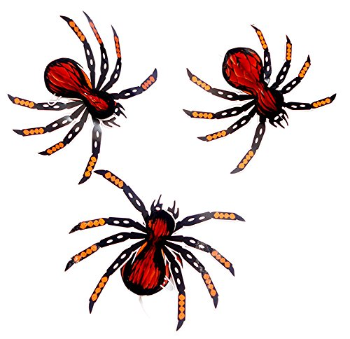 Set von 6 Halloween-Partei-Dekoration-hängenden Verzierung, Spinne