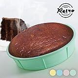 Silikon Backform Set Kastenform Tortenform Gugelhupfform in 4 Farben (Tortenform)