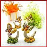 Ingrosso e Risparmio Bomboniere statuine in resina colorata a forma di ferro di cavallo con farfalle multicolor assortite(kit 48 pz)