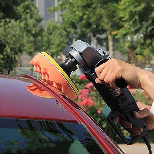 Swiftswan 6Pcs Auto Polierer Waffel/Flach Polieren Buffer Pad Foam Pad Polieren Pad Kit (Farbe: Multicolor)