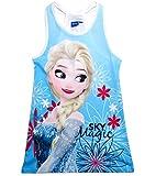 Frozen Kleid Ökotex Standard 100 Kollektion 2018 Die Eiskönigin 98 104 110 116 122 128 Mädchen Disney Strandkleid Anna und ELSA (Blau, 104)