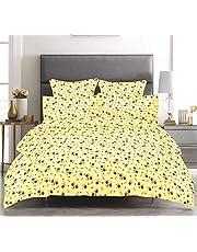 Trance Microfiber Double Comforter 84 x 96 Yellow with Pu