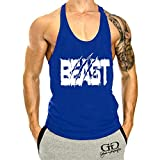 YeeHoo Herren Weste Tank Top Muscleshirt Unterhemd Beast für Gym Fitness & Bodybuilding Trägershirt