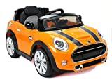 MINI COOPER S Elektrisches Auto für Kinder, 2 MOTOREN, Orange, 2,4 GHz Fernbedienung, Original Lizenz