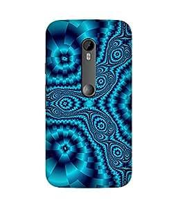 Trippy Blue Motorola Moto X3 Case