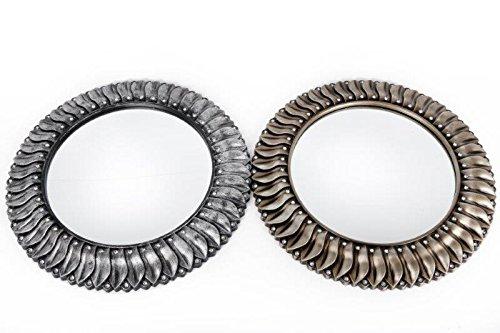 Diamonte Sunburst Spiegel Silber/Champagner 45cm, plastik, Distressed Silver, 45 x 45 cm (Vintage Sunburst Spiegel)