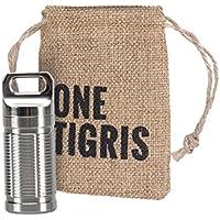 OneTigris Wasserdichte Pillendose Titan Pille Box mit Mini Schlüsselring