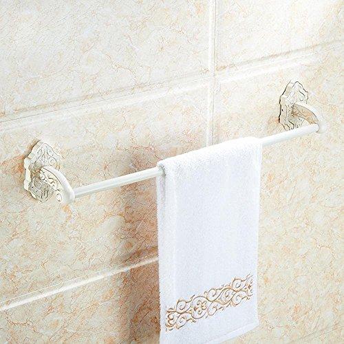 GuoEY Europäische Retro Single Bar, beheizter Handtuchhalter, Hair-Towels, Badezimmer Chrom Hardware Zubehör (Load Single Bar)