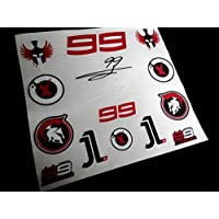 PEGATINAS STICKERS MOTO 99 LORENZO MOTO GP F64 AUFKLEBER DECALS AUTOCOLLANTS ADESIVI ROJO NEGRO/RED BLACK