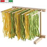 Ausstecher Größe Stretch Nudeltrockner Pasta aus Massivholz Buche 37x 27x 29cm–Made in Italy