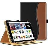 MoKo Funda Universal para 9 -10 Inch Tableta- Slim Folding Stand Folio Cubierta PU Funda de Protección ipad 2/3/4, ipad 9.7 2017, Google Nexus 9 8.9, lenovo Tab 2 A10-70, iPad Air, Negro & marrón