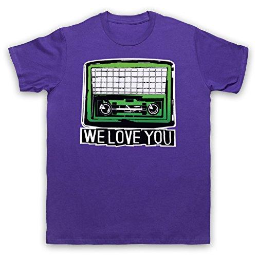 Inspiriert durch Psychedelic Furs We Love You Unofficial Herren T-Shirt Violett