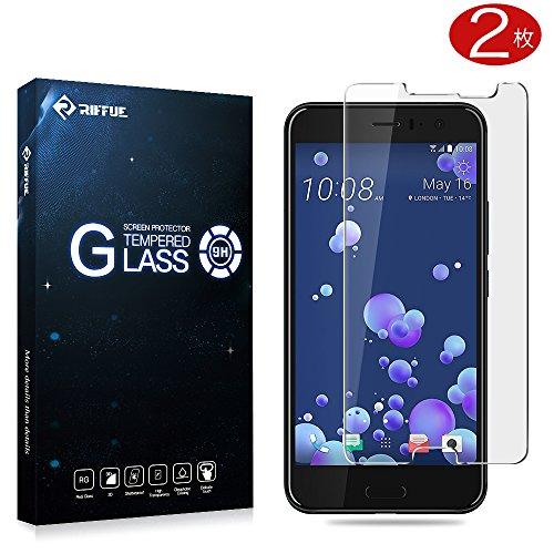 Pellicola Protettiva HTC U 11, Riffue HTC U 11 Pellicola Vetro Temperato 3D Toccare Compatibile 9H Durezza Ultra Resistente Screen Protector per HTC U11 - 2 Packs