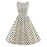 iLover Vintage 40s 50s 60s robe rayée Audrey Rockabilly Swing robe de fête de pique-nique