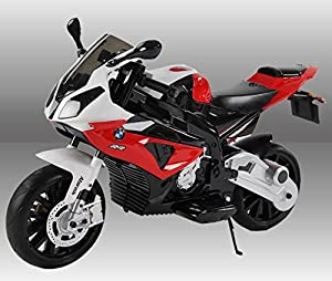 Ride On Kids BMW Motor Bike - Includes Convenient Removable Stabilizers For Training - Key Start Ignition With Realistic Start Up Engine And Horn Sound Effects - S1000R Style from RideOnBikes