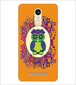 PrintDhaba Funny Owl D-3543 Back Case Cover for XIAOMI REDMI NOTE 3 PRO (Multi-Coloured)