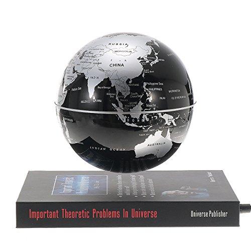EsportsMJJ 6 Pulgadas Giratorias De Levitación Magnética Globo Planeta Tierra Flotante Mapa De La Plataforma De Estilo De Libros De Educación