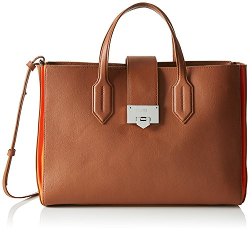 HUGO Mabel 10188035 01, Borsa Tote Donna, Marrone (Light/Pastel Brown), Taglia Unica