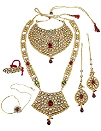 EWAN CREATION Marvelous Style Polki Traditional Necklace Earring Bridal Set Partywear Jewelry For Womens