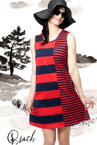 Nanso robe d'été robe robe 95 cm taille xS s m l xL xXL xXXL Multicolore - Navy-Rot