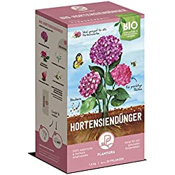 Plantura Bio Hortensiendünger mit 3 Monaten Langzeitwirkung für den Garten und Balkon-Pflanzen, für eine prächtige Blüte, gut für den Boden, unbedenklich für Haus- & Gartentiere, 1,5 kg