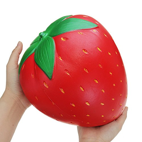 Gigante Fresa Jumbo Squishy Toys 25*20CM Fruta Enorme Slow...