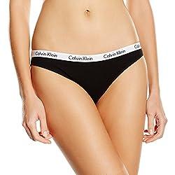 Calvin Klein Women's Bikini Briefs Underwear Carousel - Black - S