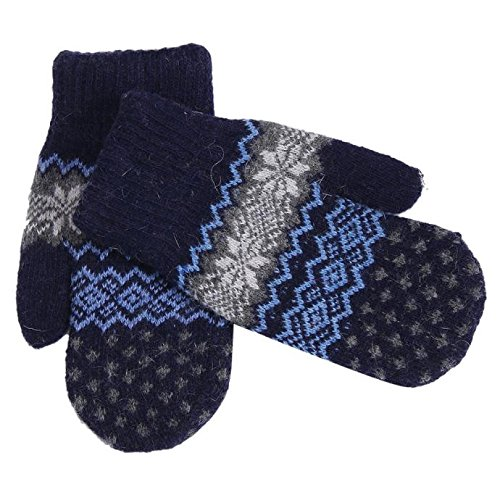 Artistic9 Winter Strickhandschuhe Damen Schneeflocke Design Warme Handschuhe Handschuhe Fleece Futter Handw?rmer Themal Mitt M?dchen Dame Frohe Weihnachten Urlaub Geburtstag -