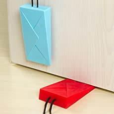 Zollyss 1pcs Envelope Shape Door Stopper Simple Silicone Wedge Holder Children Kids Safety Creative Guard Finger Protector